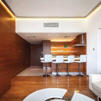 Dubai Lagoon Furnished Luxury Apartment - Bar Area | By Schon